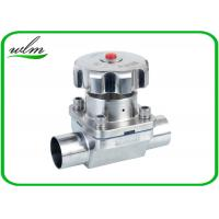 Quality Butt Welded Sanitary Diaphragm Ball Valve PTFE Seal Material , Minimized Dead Leg wholesale