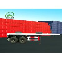 Buy cheap Dual Air Brake System Flat Deck Utility Trailer High Strength Low Alloy Steel Material from wholesalers