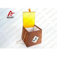 Quality Bamboo Made Food Container Customized Paper Box With Ribbon Fashion Style wholesale