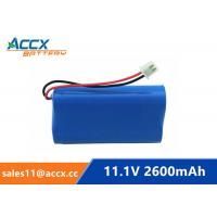 Quality 18650 11.1V 2600mAh li-ion battery pack with pcm protection wholesale