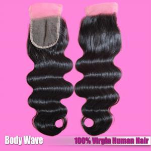 Quality Factory Wholesaler 100% Human Hair Extension Brazilian Hair Natural Color Lace Closure wholesale
