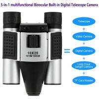 Quality DT08 Binocular Built-in Digital Telescope Camera Far Shoot 1.3MP Video Recorder 10x25 101M/1000M outdoor camping hiking wholesale