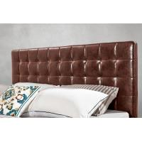 Cheap Leather / Fabric Upholstered Headboard Bed for Apartment Bedroom interior for sale