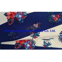 Quality 228T Polyester Outdoor Fabric Taslan Peach Stripes Floral Printing Water Repellent 2000MM Milk White Coating wholesale
