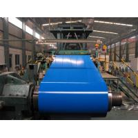 China Customized PPGI / PPGL Pre Painted Color Coated Steel Coil Red / Sky Blue on sale