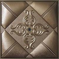 Quality Leather Modern 3D Wall Panels Moisture Proof WIth Highly Embossed wholesale