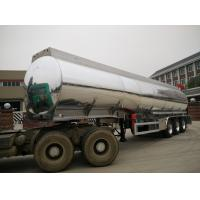 China 3 Axles Aluminum Fuel Tank Semi Trailer 42000 Liters With BPW Axle And 7500kg Weight on sale
