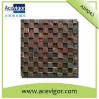 Cheap Natural solid wood mosaic for wall decoration for sale