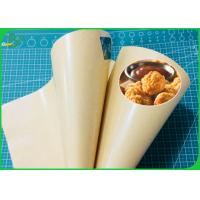 China 100% Greaseproof PE Laminated Brown Kraft Paper For Food Wrapping on sale