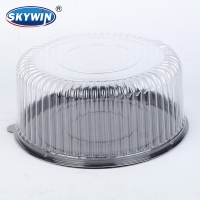 China Factory disposable plastic cake box cake dome with 10 inches, 12 inches size can be customized on sale