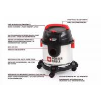 China 15L Commercial Wet Dry Vacuum Cleaner With Stainless Steel Porter Cable on sale