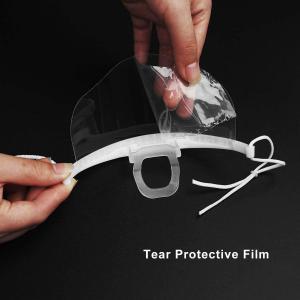 Quality Hygiene Double Sided Fogging Prevention Transparent Plastic Face Mask wholesale