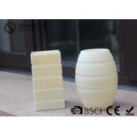 Quality Plastic Material Led Pillar Candles With Flat Top Striped Candle Set wholesale
