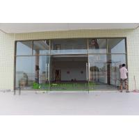 Cheap china manufacturer commercial exterior commercial frameless glass doors for apartment of for Exterior frameless glass doors