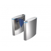 Quality SUS304 Retractable Flap Barrie RFID Waist Height Turnstile Gate System wholesale