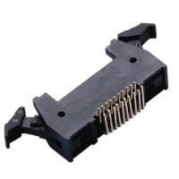 Quality 20P 1.27 * 2.54mm Latch Header Right Angle Male  Connector PA9T plastic ROHS wholesale