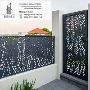 China SUDALU Laser Cut Powder Coated Aluminum Exterior Villa Fence and Gate Panel on sale