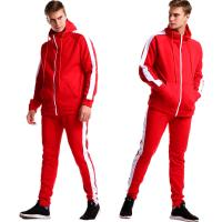China Fashion Red Custom Outdoor Clothing Casual Long Sleeve Tracksuit on sale