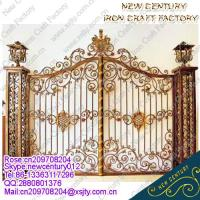 Quality 2015 good sell wrought iron gates/ornamental wrought iron gates/european wrought iron gates wholesale