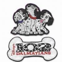 Quality Computerized Embroidery Label, Available in 101 Dalmatians Theme, OEM Orders are Welcome wholesale