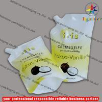 Quality PE/PET side spout pouch packaging with bottom gusset,liquid bag wholesale