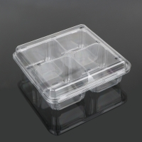 China Supermarket 4 Compartment Blister Disposable Plastic Food Box on sale