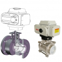 China Quarter Turn 4 Inch DN100 Electrically Operated Ball Valve on sale