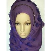 Quality Embroidery Silk Hijab Scarf (LC-C055) wholesale
