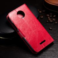 Quality Protective Wallet Stand Motorola Leather Case For Motorola C Plus Side - Open wholesale
