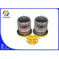 Quality AH-LS/T Solar Powered LED Dual Aviation Obstruction Light wholesale