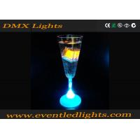 Azure Party Champagne Led Plastic Cups , RGB Lighted Wine Glasses