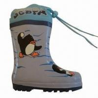 Quality Rubber rain boots/children's fashion boots, customized designs are accepted wholesale