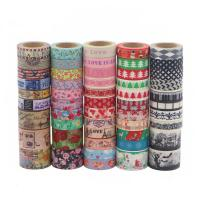 China Cute Fabric Patterned Washi TapeStrong Adhesion Scrapbook Gift Wrapping on sale
