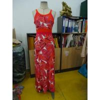 Quality Beautiful Womens Summer Maxi Dresses Single Jersey Maxi Dress Coral Abstract Printing wholesale