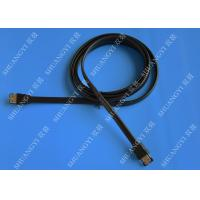Quality SATA 3.0 Slim Flexible External SATA Cable , PC Powered ESATA Cable wholesale