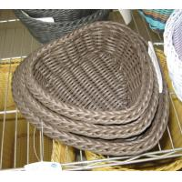 Quality High Quality PP Rattan Heart Shape Storage Basketry wholesale