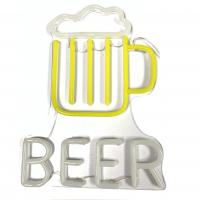 China Neon Beer Signs  for Man Caves Neon Beer Lights Personalised Neon Light Sign on sale