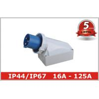 Quality 125 Ampere IP67 63A Industrial Plugs And Sockets 230V 380V , Surface Mounted wholesale