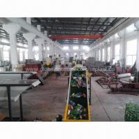 China PET Bottles Recycling Line with Electric Control Board, Horizontal Helical Feeder and Belt Conveyor on sale