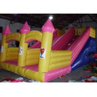 China Girls Pink Large Inflatable Slide , PVC Tarpaulin Princess Ground Kids Inflatable Slide on sale