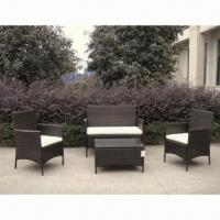 China Outdoor rattan garden furniture sofa set, steel frame with power coating on sale