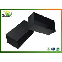 Quality Luxury Black Color Custom Gift Boxes , Sliding Drawer Packaging wholesale