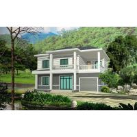 Quality Prefabricated Rural Villa With Light Steel Frame , Quick Assemble Prefab Modular Housing for sale
