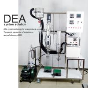 China 80mm Diameter Wiped Climbing Film Evaporator , Essential Oil Distillation Equipment on sale