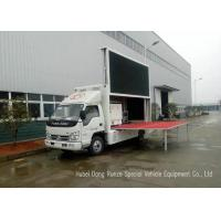 Quality Mobile Digital Advertising Vehicle with Stage For Outdoor Broadcast / Events / Shows wholesale