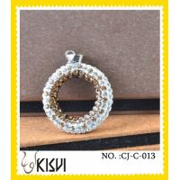 Quality Unique design CZ crystal & 925 silver round handcrafted crystal jewelry / crystal charm wholesale