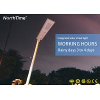 China Dustproof Smart All - In - One Integrated 50W Solar Street Light With Motion Sensor on sale