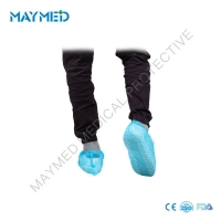 China 0.016-0.10mm Thickness Non Skid PP Nonwoven Protective Shoe Cover on sale