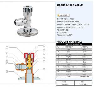 Quality Brass angle valve K& G-18004 wholesale