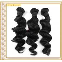 China Top grade malaysian nature black body wave human hair weaving on sale